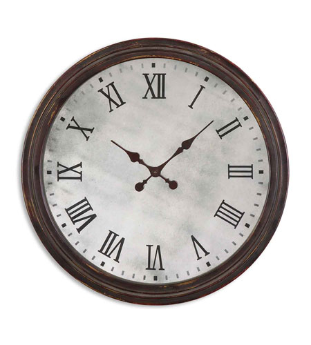 Uttermost Marshall Clock in Rustic Dark Walnut 06889 photo