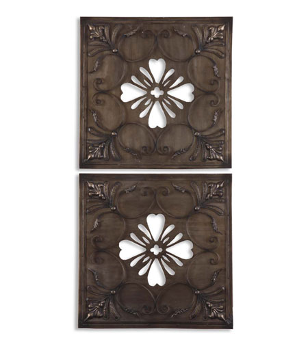 Uttermost 07583 Mikilana 21 X 21 inch Metal Wall Art