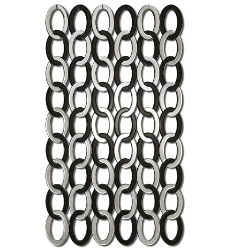 Uttermost 08103 Mirrored Links 60 X 36 inch Beveled Mirror Wall Mirror