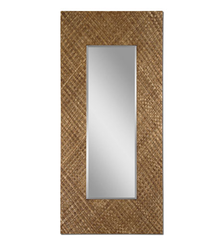 Uttermost Gretna Mirror in Lightly Stained Woven Strips Of Banana Leaf 09033 photo