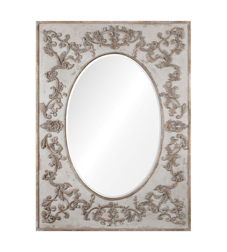 Uttermost 09132 Modena 70 X 51 inch Ivory Wall Mirror, Oversized