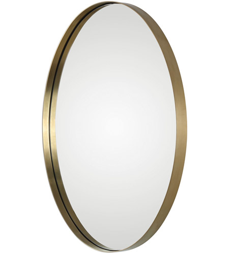Uttermost 09353 Pursley 30 X 20 inch Plated Brass Wall Mirror 09353-A.jpg