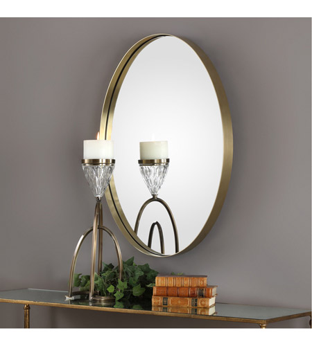 Uttermost 09353 Pursley 30 X 20 inch Plated Brass Wall Mirror 09353-Lifestyle.jpg