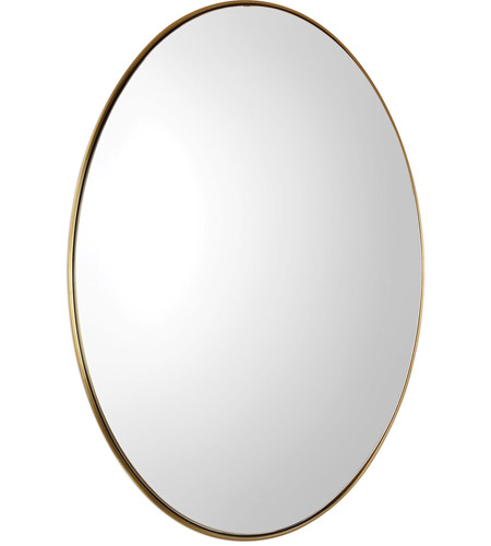 Uttermost 09353 Pursley 30 X 20 inch Plated Brass Wall Mirror