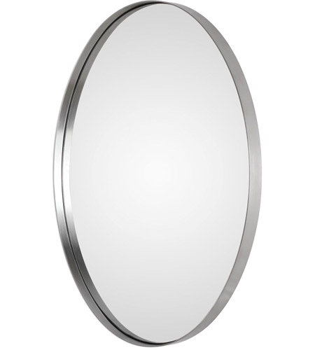 Uttermost 09354 Pursley 30 X 20 inch Plated Brushed Nickel Wall Mirror 09354-A.jpg