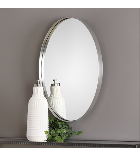 Uttermost 09354 Pursley 30 X 20 inch Plated Brushed Nickel Wall Mirror 09354-Lifestyle.jpg