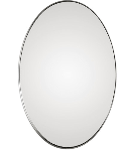 Uttermost 09354 Pursley 30 X 20 inch Plated Brushed Nickel Wall Mirror