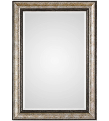 Uttermost 09366 Shefford 43 X 31 inch Antiqued Metallic Silver and Rustic Dark Bronze Wall Mirror photo