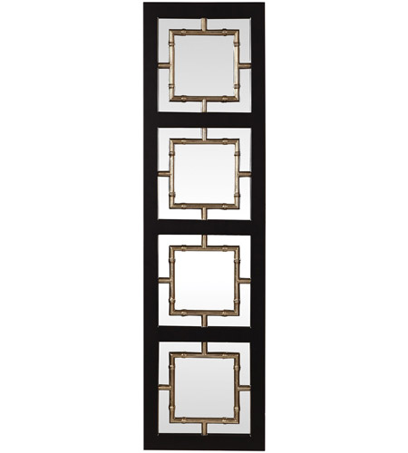 Uttermost 09436 Tadon 75 X 20 inch Black and Antique Golden Champagne Wall Mirror