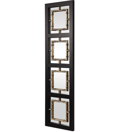 Uttermost 09436 Tadon 75 X 20 inch Black and Antique Golden Champagne Wall Mirror 09436_A.jpg