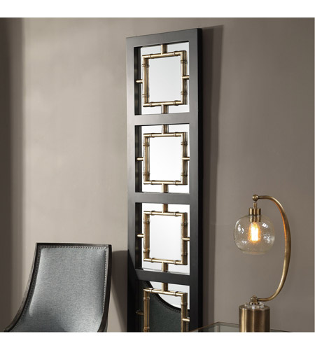Uttermost 09436 Tadon 75 X 20 inch Black and Antique Golden Champagne Wall Mirror 09436_A1.jpg