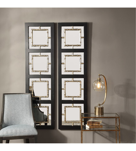 Uttermost 09436 Tadon 75 X 20 inch Black and Antique Golden Champagne Wall Mirror 09436_A2.jpg
