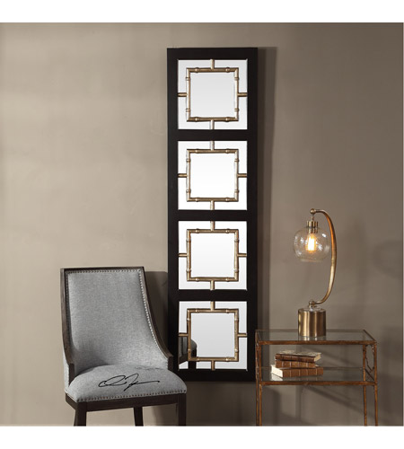 Uttermost 09436 Tadon 75 X 20 inch Black and Antique Golden Champagne Wall Mirror 09436_Lifestyle.jpg