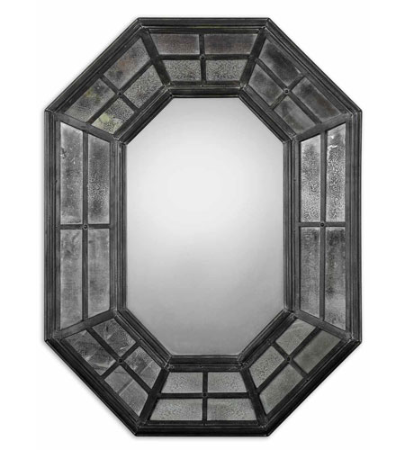 Uttermost 10105 Sumner 38 X 29 inch Rustic Charcoal Gray Wall Mirror