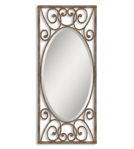 Uttermost 12756 Armona 70 X 30 Inch Antiqued Silver Leaf Wall Mirror Photo