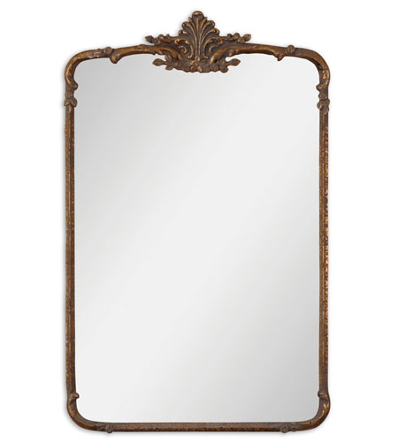 Uttermost 12792 Vilonia 34 X 21 inch Antiqued Gold Leaf Wall Mirror