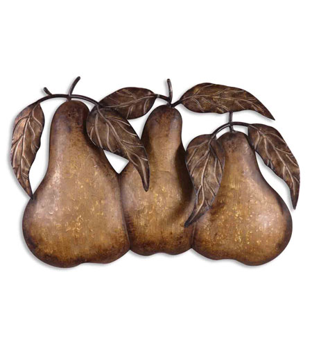 Uttermost 13580 Three Pears 30 X 20 inch Metal Wall Art