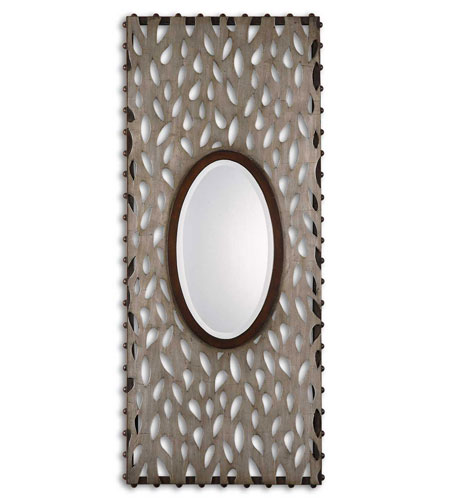 Uttermost Nanala Mirror in Antique Silver Leaf 13729 photo