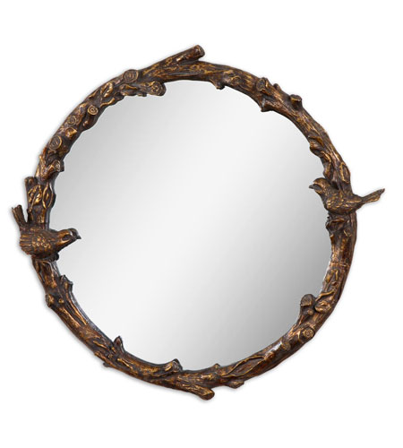 Uttermost 13764 Paza 26 X 25 inch Distressed Antiqued Gold Leaf Wall Mirror