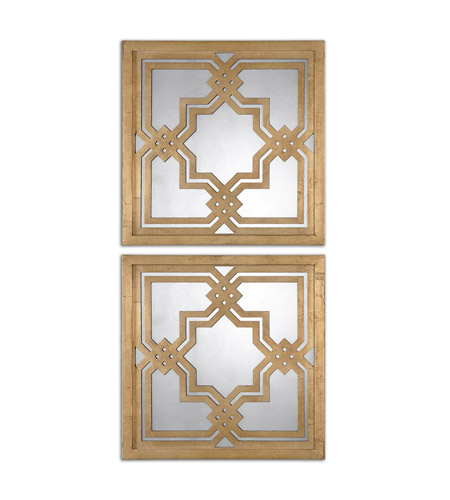 Uttermost 13865 Piazzale 20 X 20 inch Gold Wall Mirrors