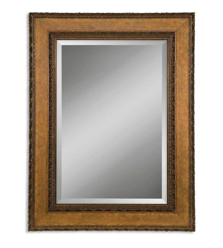 Uttermost 14127-B Nakeisha 31 X 27 inch Distressed Bronze Leaf Wall Mirror photo