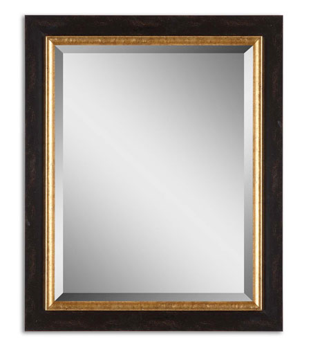 Uttermost Willcox Mirror in Distressed Black 14172 photo