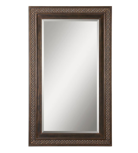 Uttermost 14209 Terenzo 72 X 42 inch Distressed Rustic Bronze Wall Mirror