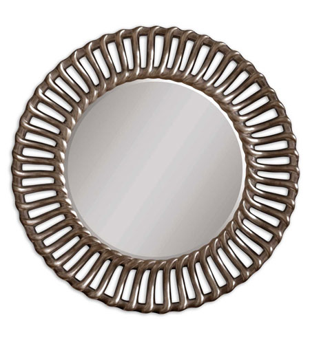 Uttermost 14531 Moravia 42 X 42 inch Antiqued Silver Leaf Wall Mirror