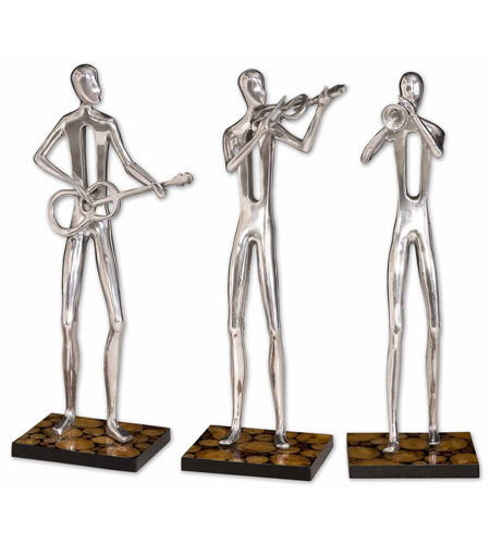 Uttermost 17074 Music Trio Polished Aluminum Statues