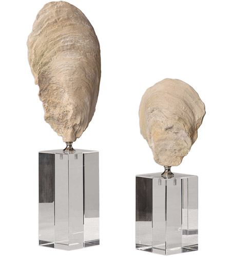 Uttermost 17523 Oyster 15 X 5 inch Shell Sculptures, Set of 2 17523_6_.jpg