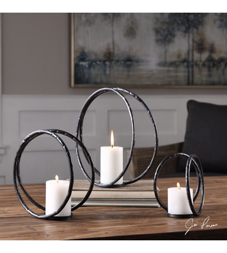 Uttermost 18709 Pina 13 X 13 inch Candleholders, Curved, Jim Parsons 18709_lifestyle.jpg