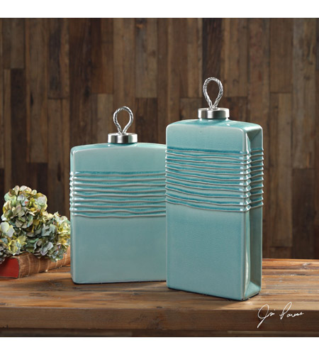 Uttermost 18828 Rewa Green Ceramic Containers
