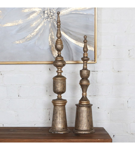 Uttermost 18847 Nalini Mango Wood Finials