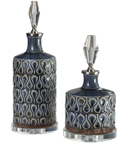 Uttermost 18886 Varuna 14 X 5 inch Bottles, Set of 2