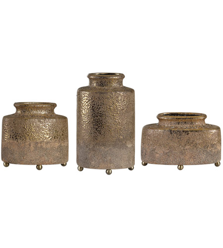 Uttermost 18924 Kallie 13 X 8 inch Vessels  Set of 3 photo