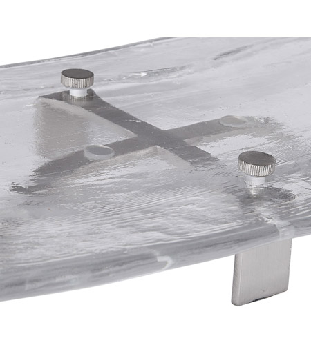 Uttermost 18997 Mika Clear Art Glass and Brushed Nickel Tray 18997_A3.jpg