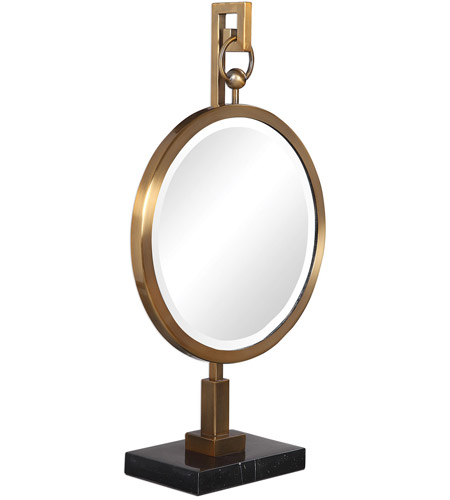 Uttermost 18999 Nori Brushed Bronze and Black Marble Tabletop Mirror 18999_A.jpg