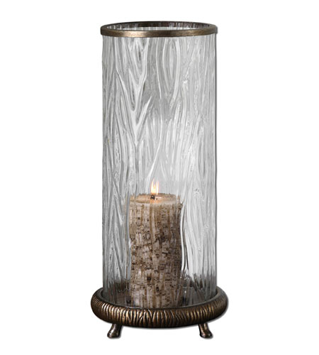 Uttermost Tomi Candleholder Home Accessory in Antiqued Champagne Silver 19433 photo
