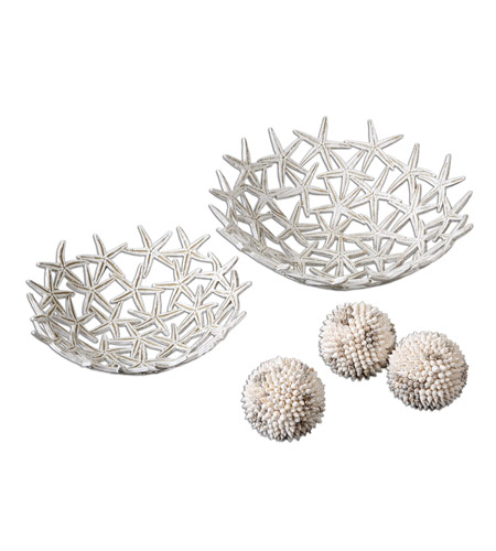 Uttermost 19557 Starfish Antique White Bowls Bowls with Spheres
