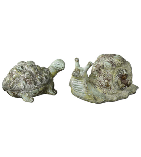 Uttermost 19706 Tortoise And Snail Crackled Green Decorative Accents