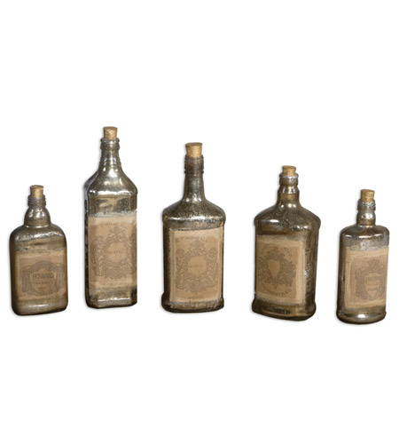 Uttermost 19754 Recycled 12 X 3 inch Bottles photo