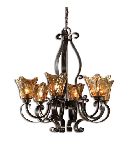 Uttermost 21006 Vetraio 6 Light 29 inch Oil Rubbed Bronze Chandelier Ceiling Light