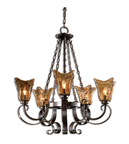 Uttermost 21007 Vetraio 5 Light 29 inch Oil Rubbed Bronze Chandelier Ceiling Light photo