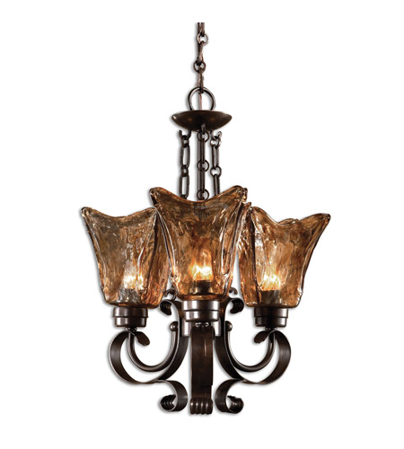 Uttermost Vetraio 3-Lt Chandelier in Oil Rubbed Bronze 21008 photo