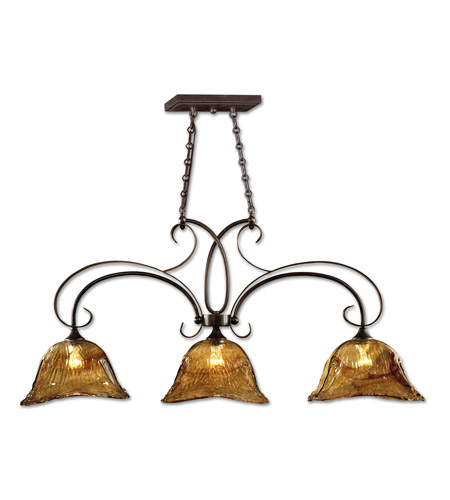 Kitchen Island Light With Fan: Uttermost 21009 Vetraio 3 Light 47 Inch Oil Rubbed Bronze