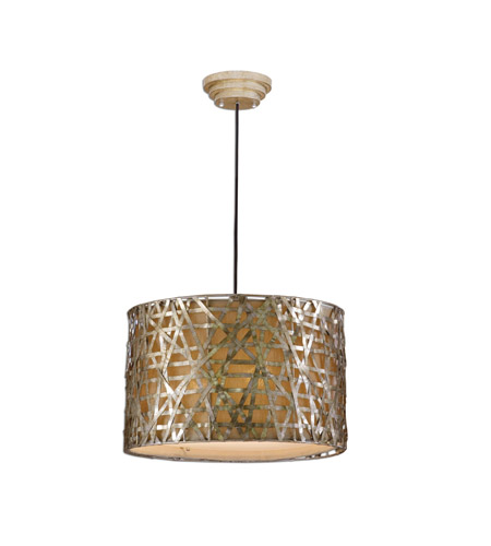 Uttermost Alita Champagne Metal Hanging Shade in Silver Leaf 21108 photo
