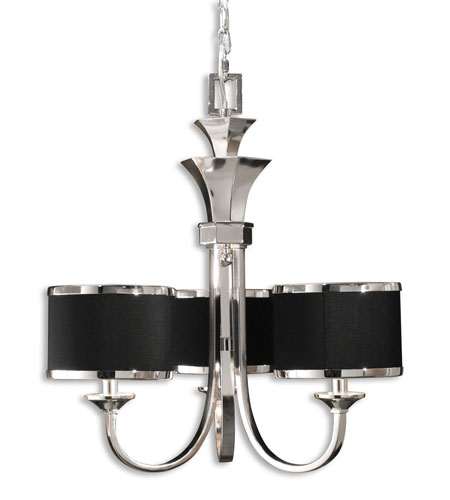 Uttermost Tuxedo 3-Lt Chandelier in Silver Plated 21129 photo