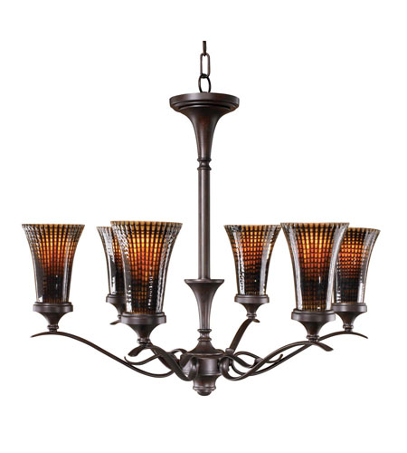 Uttermost Alexander 6 Lt Chandelier in Lightly Distressed Spice 21197 photo