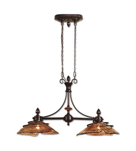 Uttermost 21225 Vitalia 2 Light 42 Inch Oil Rubbed Bronze Kitchen Island Light Ceiling Light