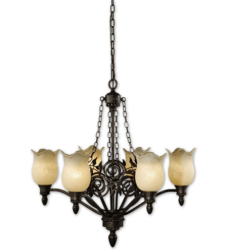 Uttermost Toulouse 6 Lt Chandelier in Heavily Burnished Wash 21230